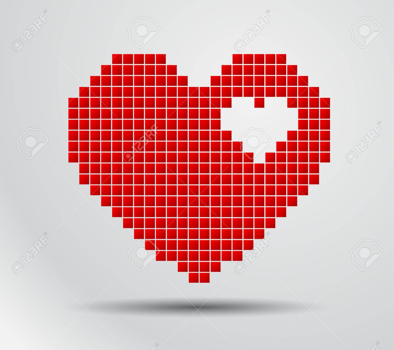 Pixel De Coeur Icone Numerique De Vecteur Pour Le Design Clip Art Libres De Droits Vecteurs Et Illustration Image 88881047
