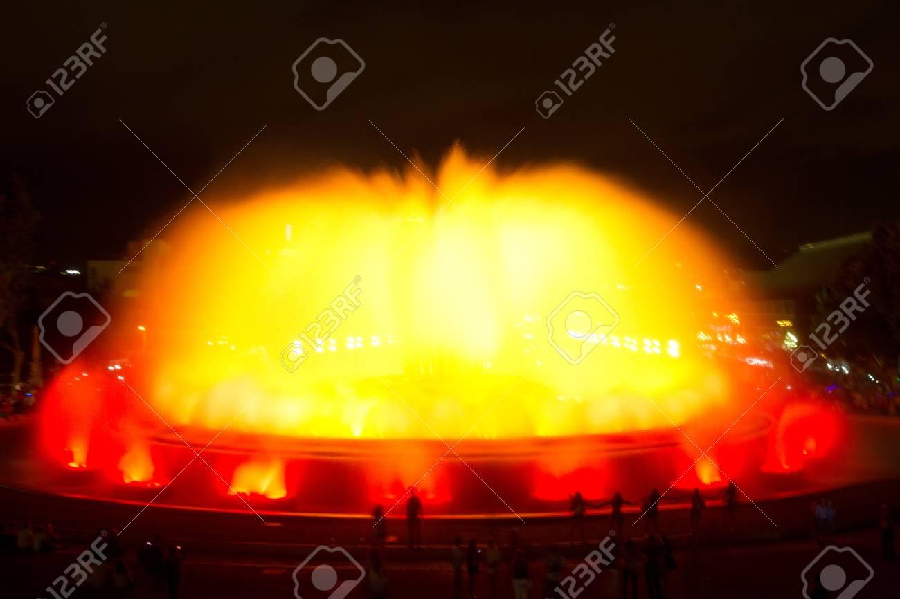 The Magic Fountain of Montju Stock Photo - 11900959
