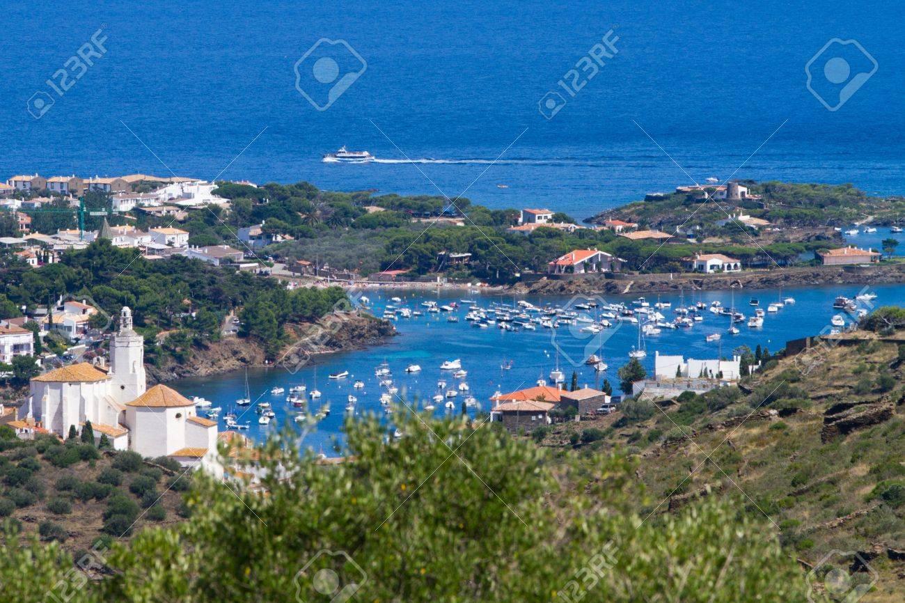 Aerial view of Cadaqu�s marina, Spain Stock Photo - 11940603