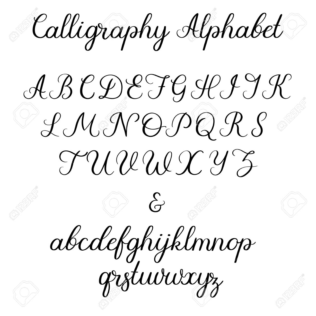 calligraphy letters printable