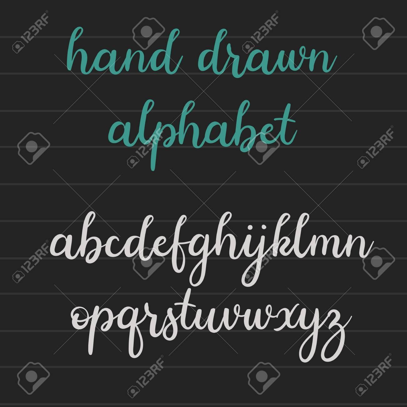 Handwritten Brush Style Alphabet Modern Calligraphy Hand Lettering Vector Script Font