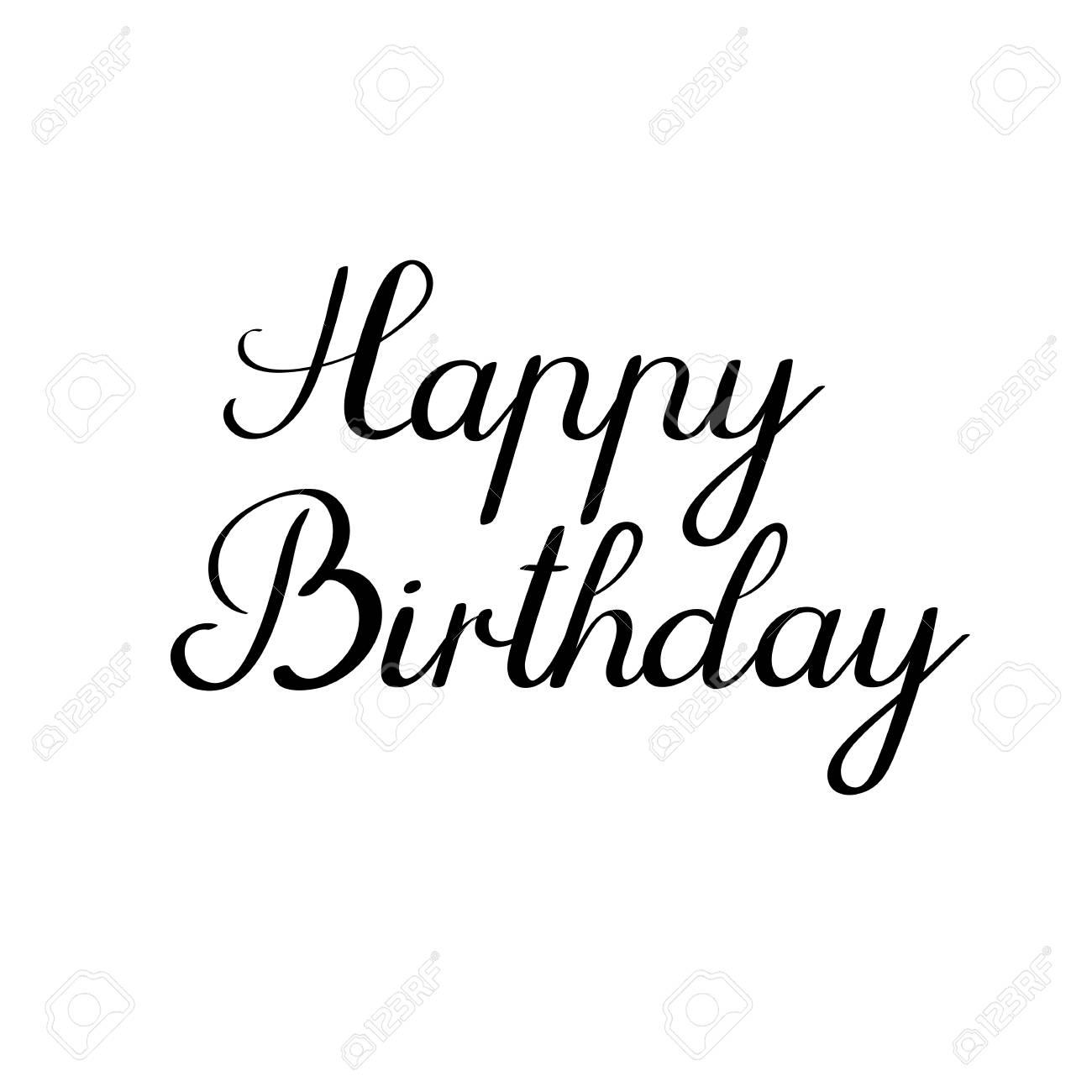 Happy birthday calligraphy inscription handwritten greeting happy birthday calligraphy inscription handwritten greeting card ink calligraphy stock vector 75943763 bookmarktalkfo Choice Image