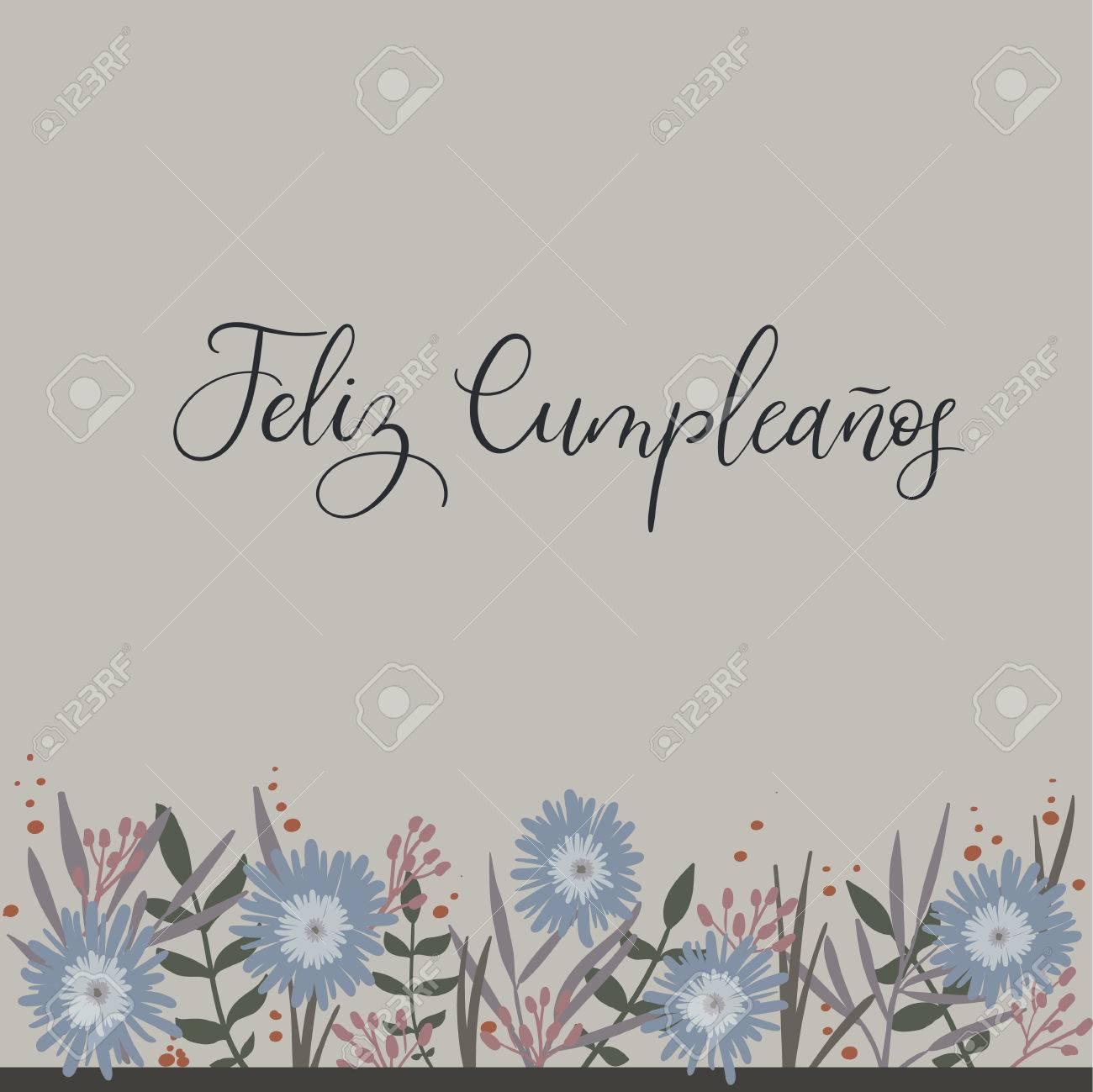 Feliz cumpleanos happy birthday in spanish calligraphy greeting feliz cumpleanos happy birthday in spanish calligraphy greeting card handwritten inscription handwritten bookmarktalkfo Choice Image