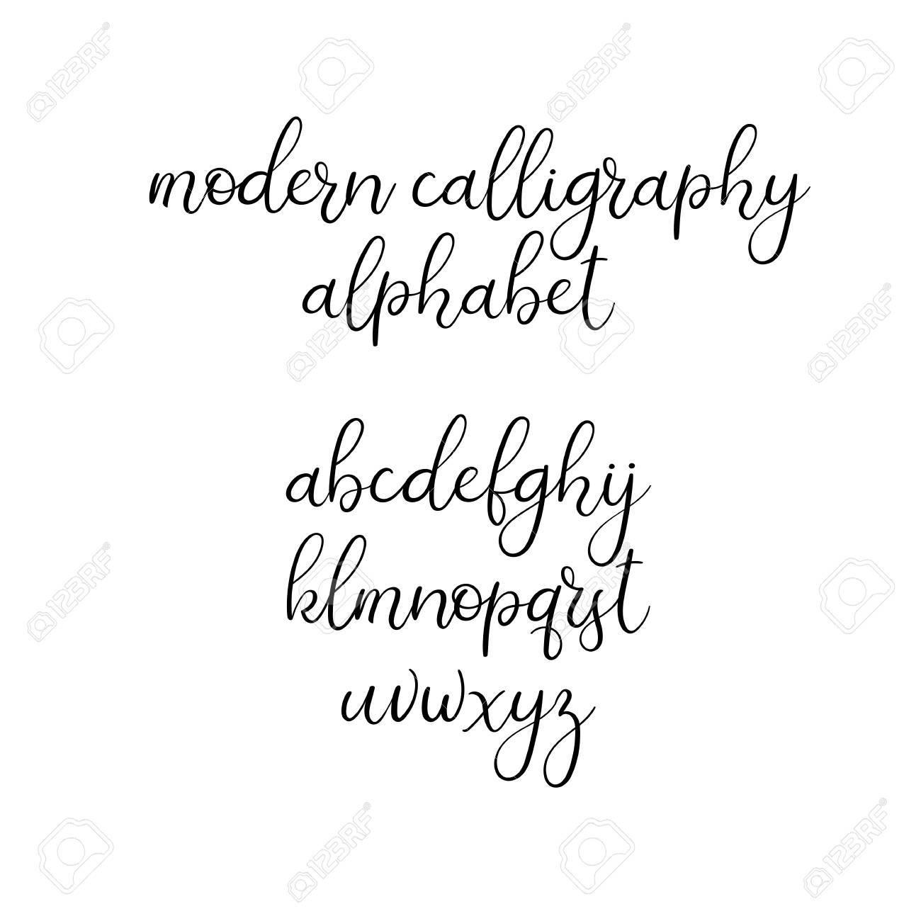 Handgeschriebene Burstenbriefe Abc Moderne Kalligraphie