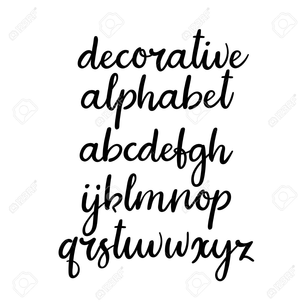 Modern Calligraphy Alphabet Handwritten Lowercase Letters Hand Lettering Font For Your Design Wedding