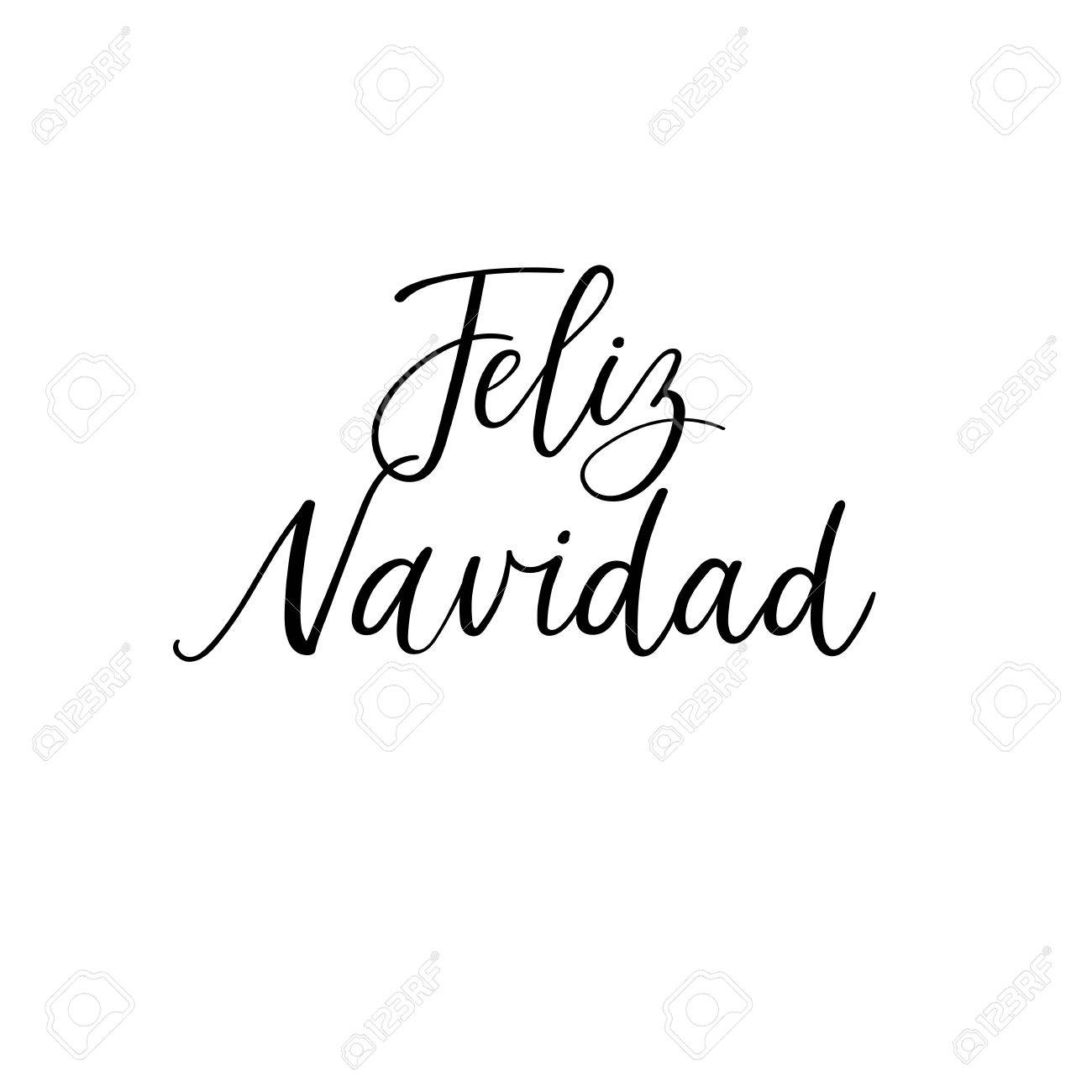 Vector merry christmas card template with greetings in spanish vector vector merry christmas card template with greetings in spanish language feliz navidad m4hsunfo