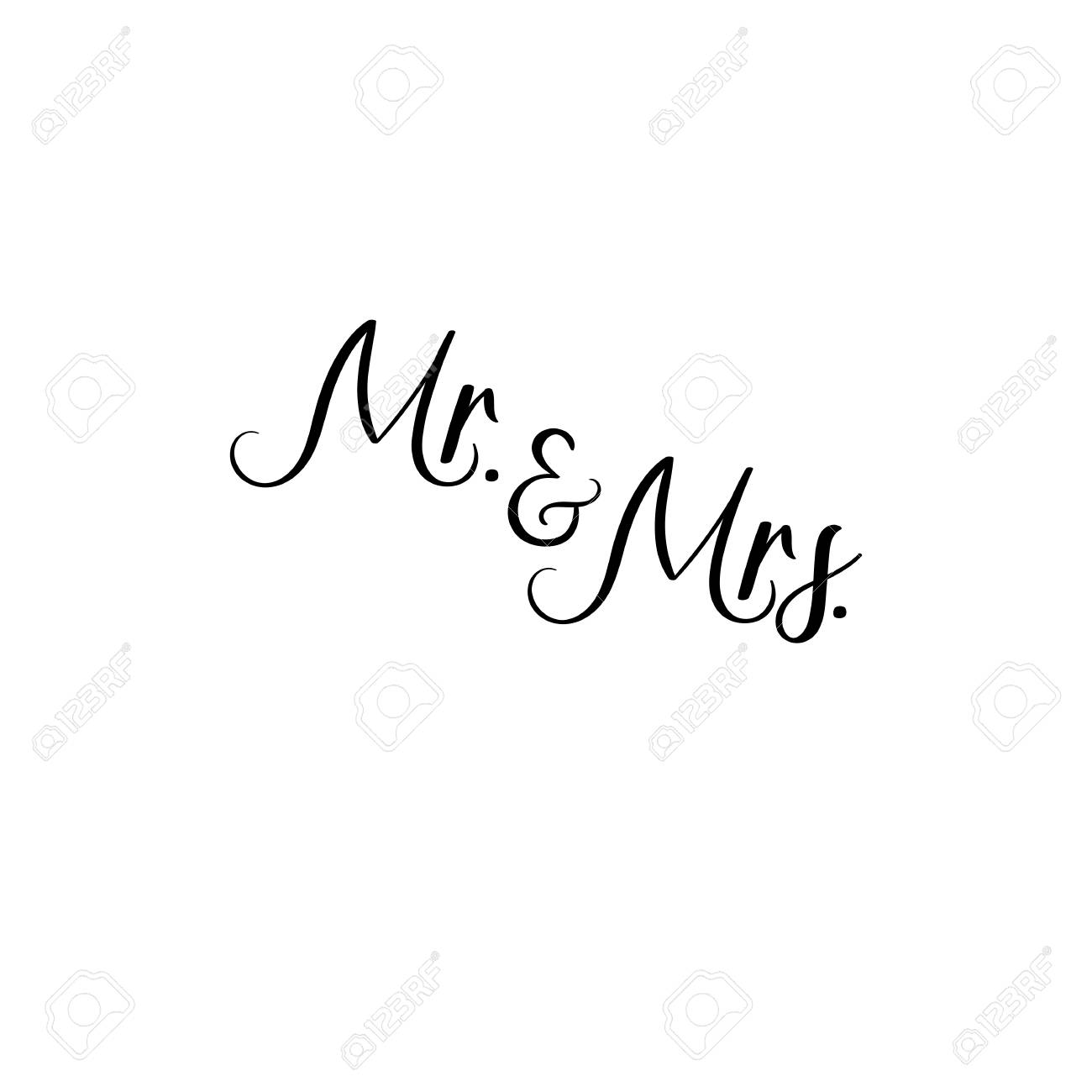 Mr And Mrs. Handwritten. Calligraphy For Greeting Cards, Wedding ...