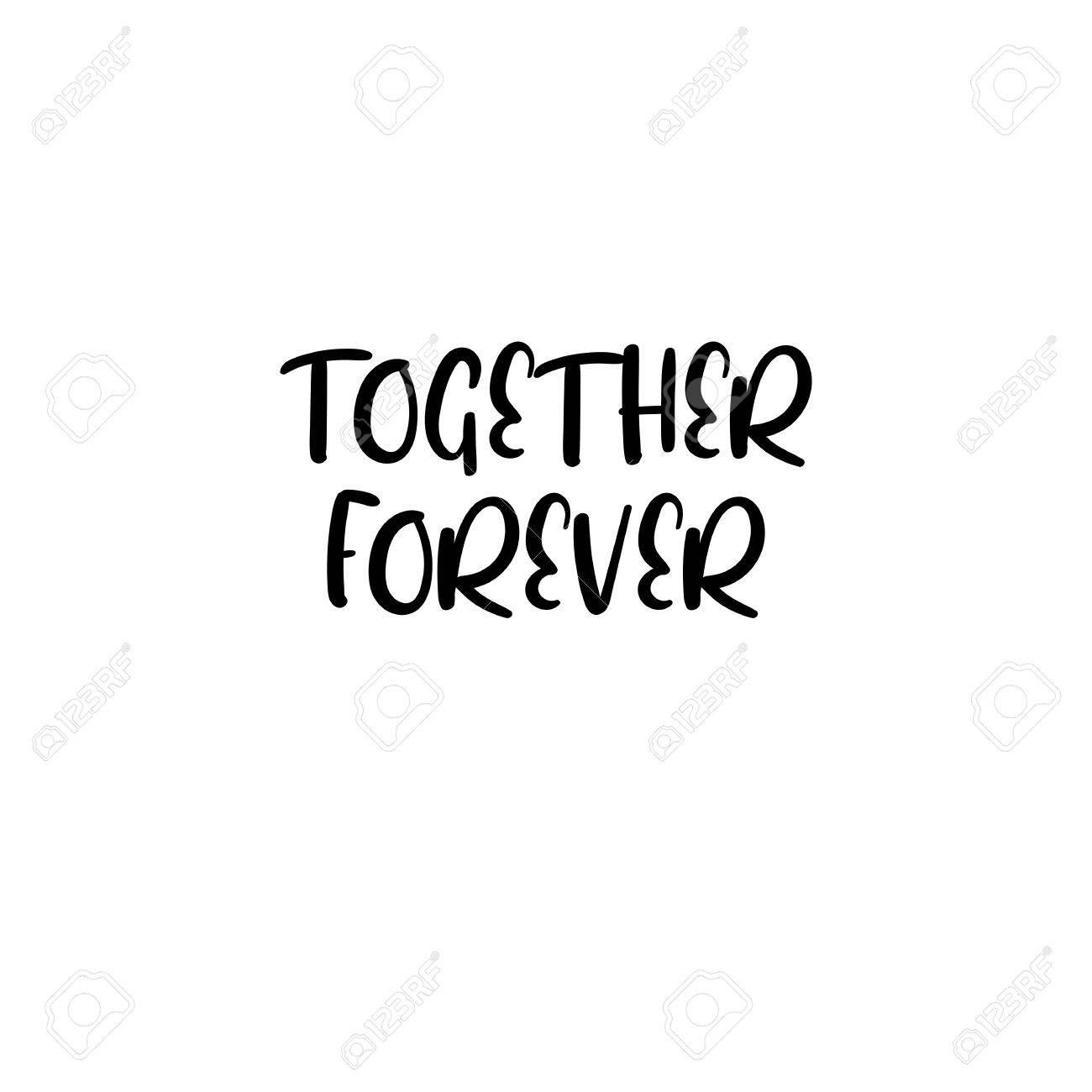 Juntos Para Siempre Texto Manuscrito Inscripcin De Caligrafa Para
