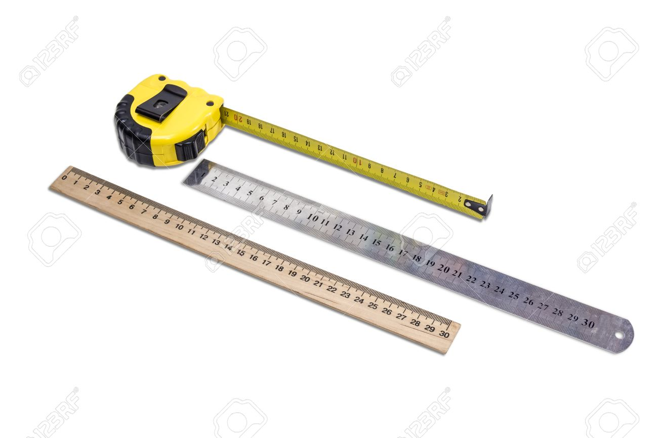 Yellow tape measure metal ruler and school wooden ruler to measure stock photo yellow tape measure metal ruler and school wooden ruler to measure the dimensions of the metric system on light background isolation aloadofball Images