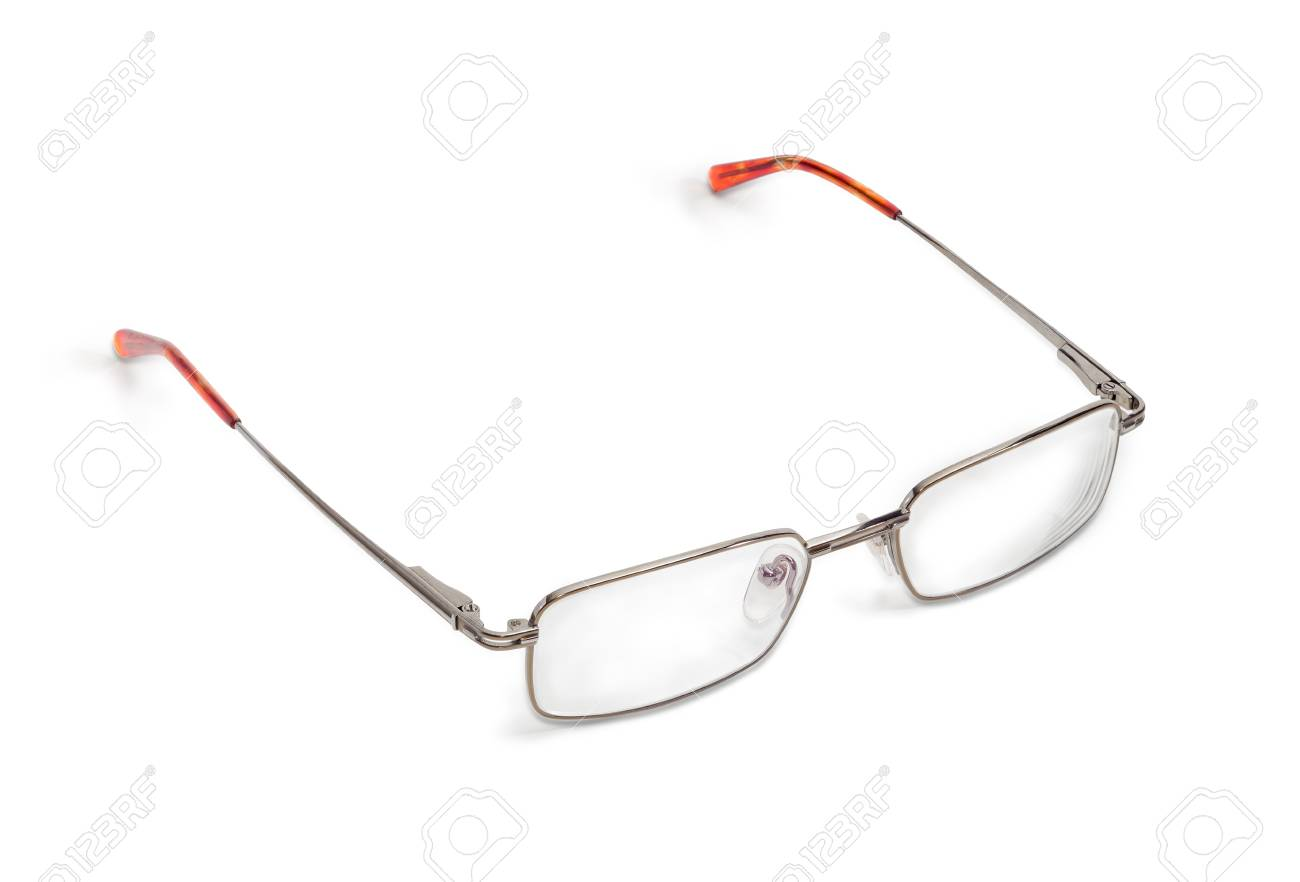 Modern Classic Men\'s Eyeglasses In Metal Frame Stock Photo, Picture ...