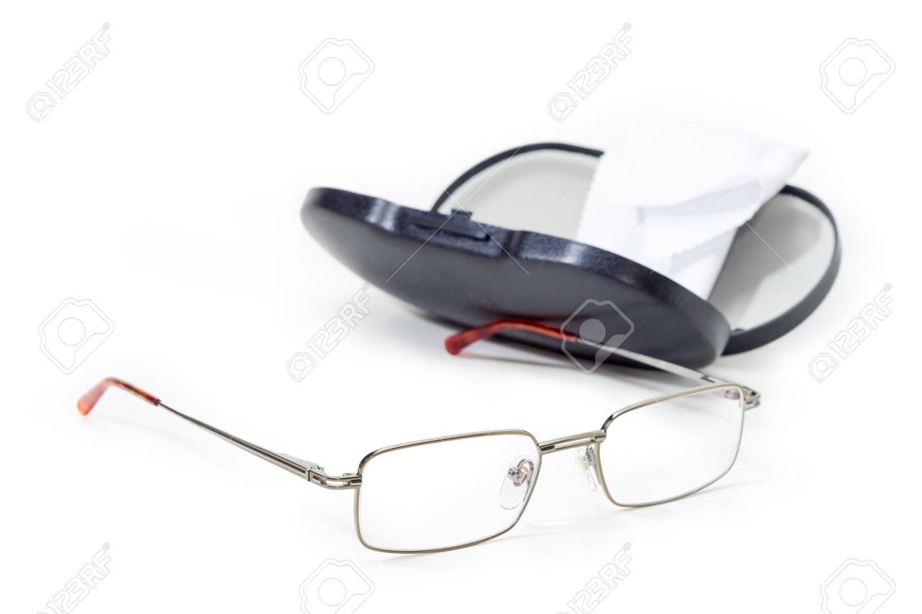 Modern Pair Of The Classic Men\'s Eyeglasses In Metal Frame On ...