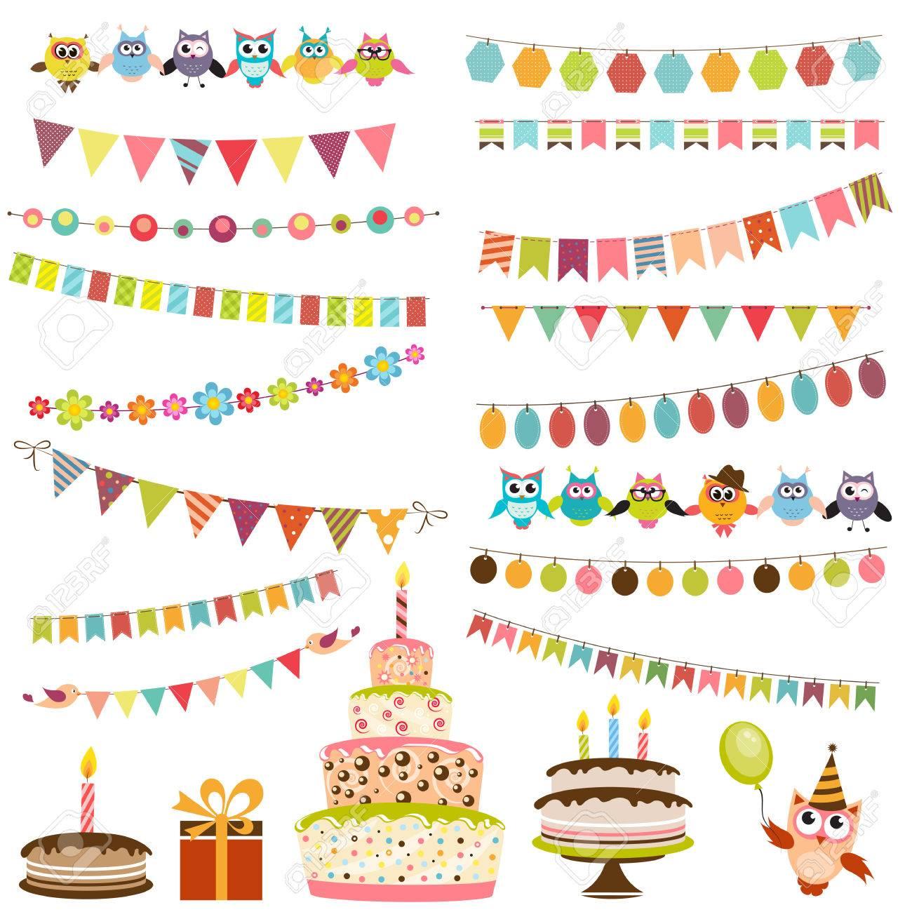 Color Birthday bunting set - 53140152