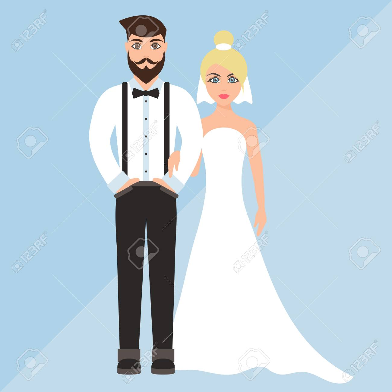 7213bba2a57ff Wedding Of A Cute Boy And Girl Royalty Free Cliparts, Vectors, And ...