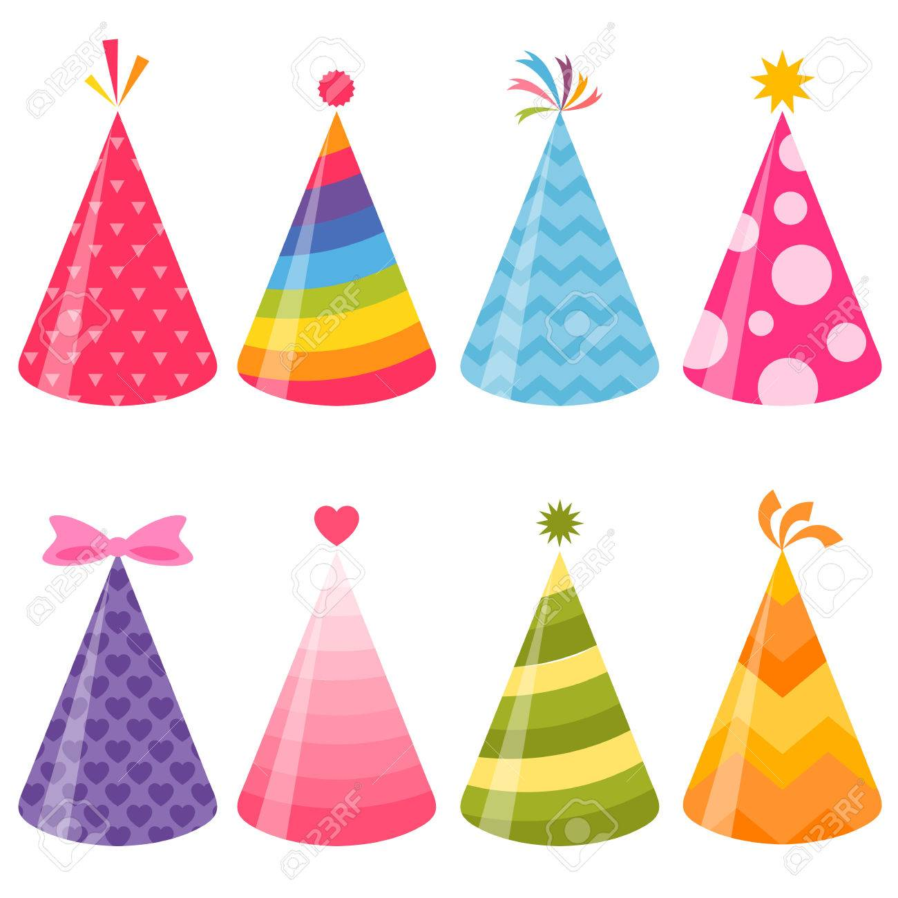 birthday party hats set royalty free cliparts vectors and stock rh 123rf com party hat vector template party hat vector free