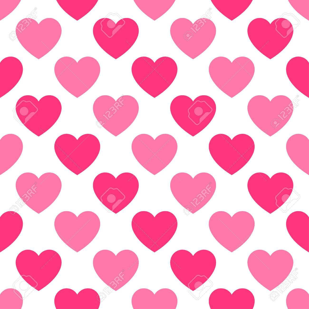 foto de archivo patrn con corazones rosas