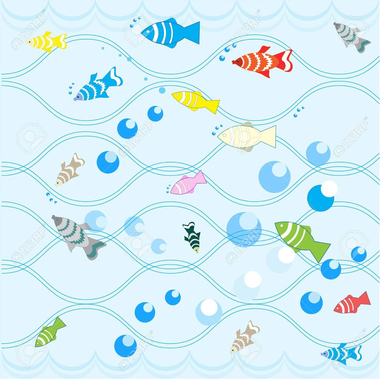 Cartoon fish. Stock Vector - 16441810