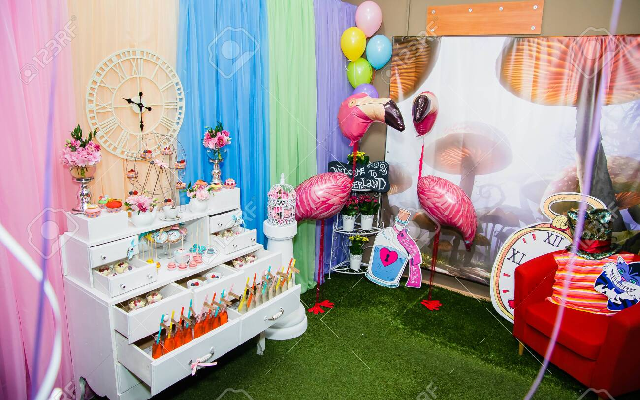 Room Decoration In Alice In Wonderland Style Stock Photo Picture And Royalty Free Image Image 121415213