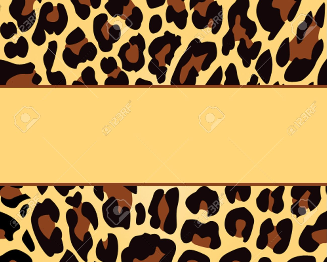 Leopard Print Background Template Stock Photo, Picture And Royalty ...