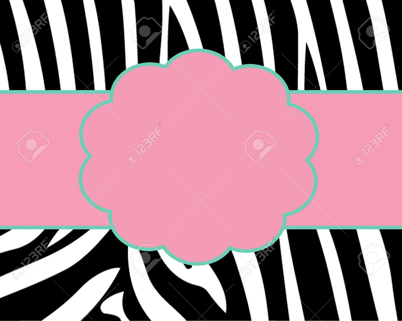 Zebra Print Card Template Photo Picture And Royalty Free – Zebra Print Birthday Cards