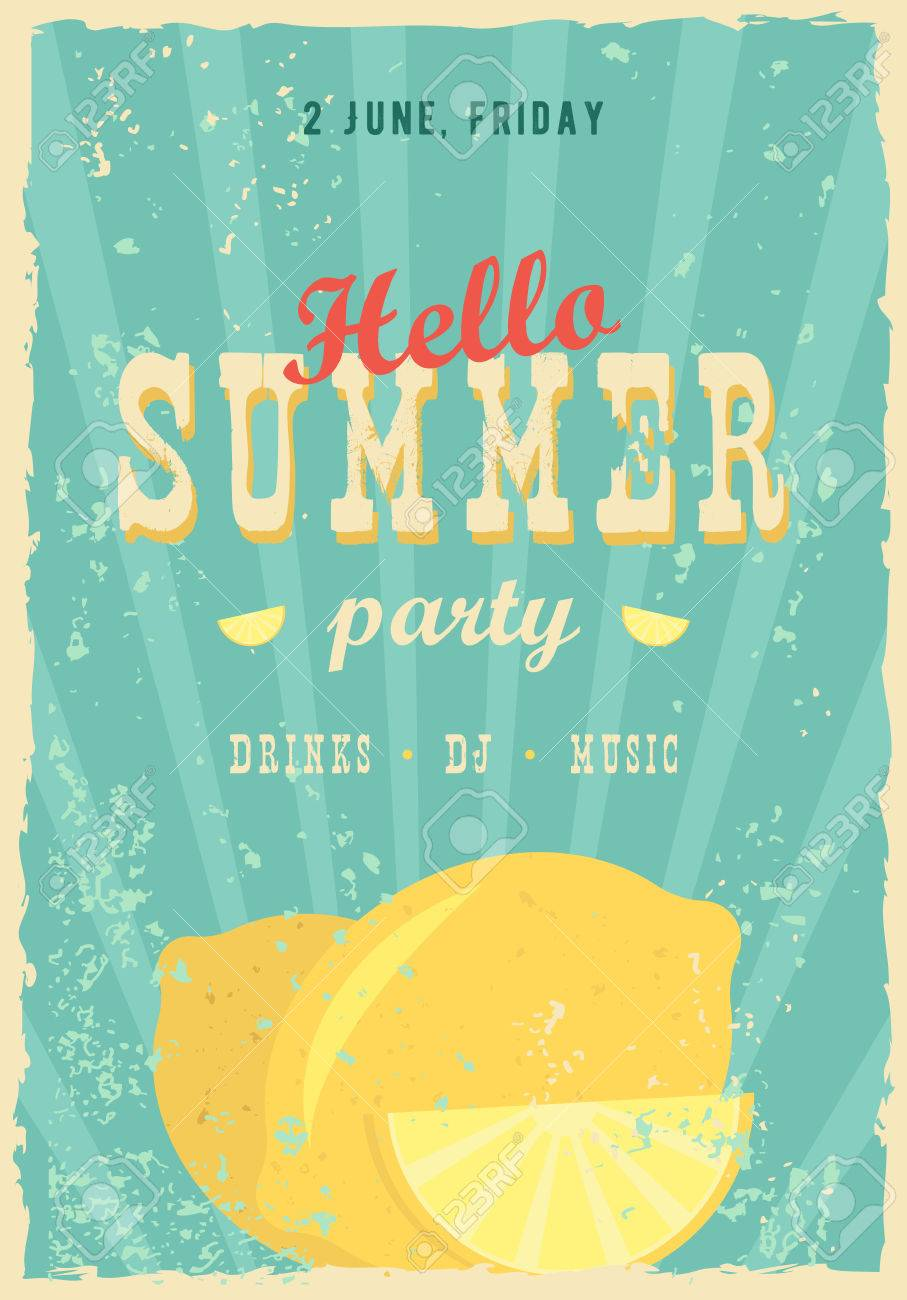 Superior Hello Summer Poster. Summer Background. Effects Poster, Frame, Colors  Background And Colors