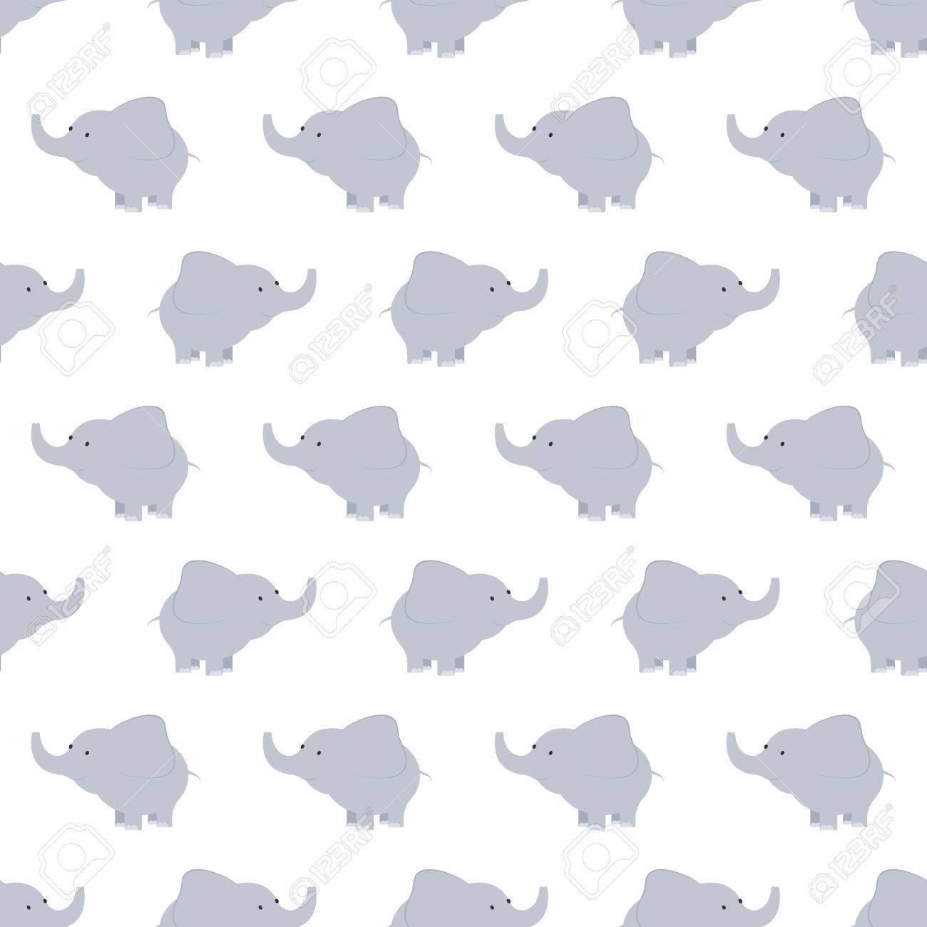 Modelo De Elefantes Azules Y Grises. Fondo Con Los Elefantes. Patrón ...