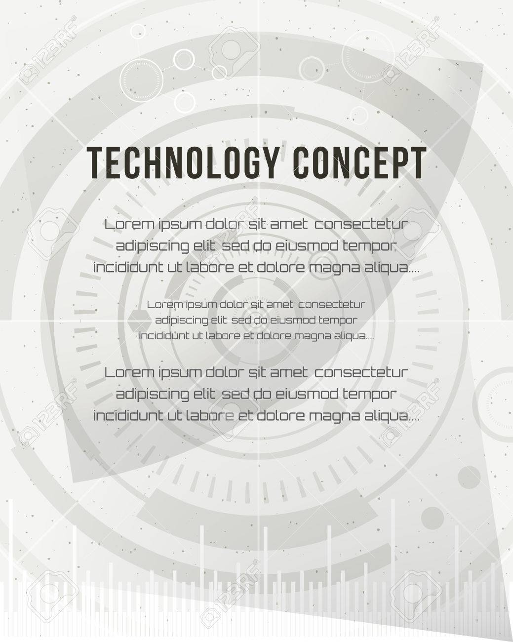 Technology Report, Flyer Design Template, Brochure. Geometric ...