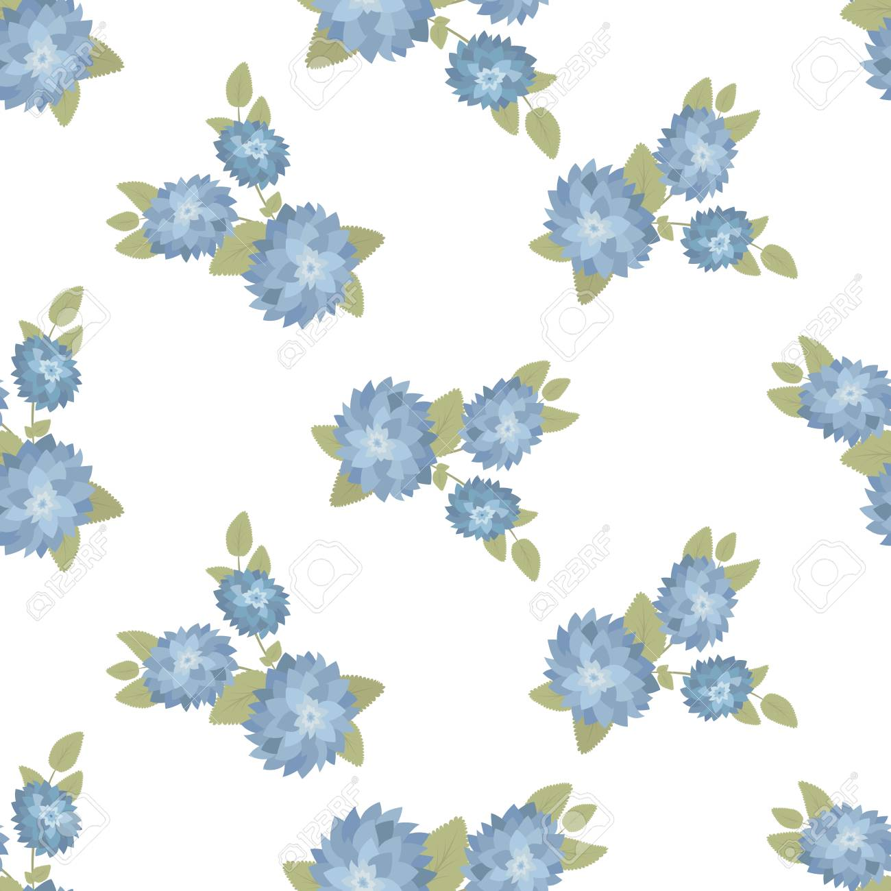Seamless Vector Floral Wallpaper Decorative Vintage Pattern