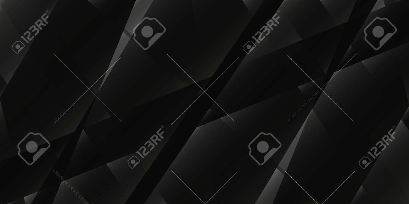Monochrome dark geometric grid background Modern dark black abstract noise texture - 166566348