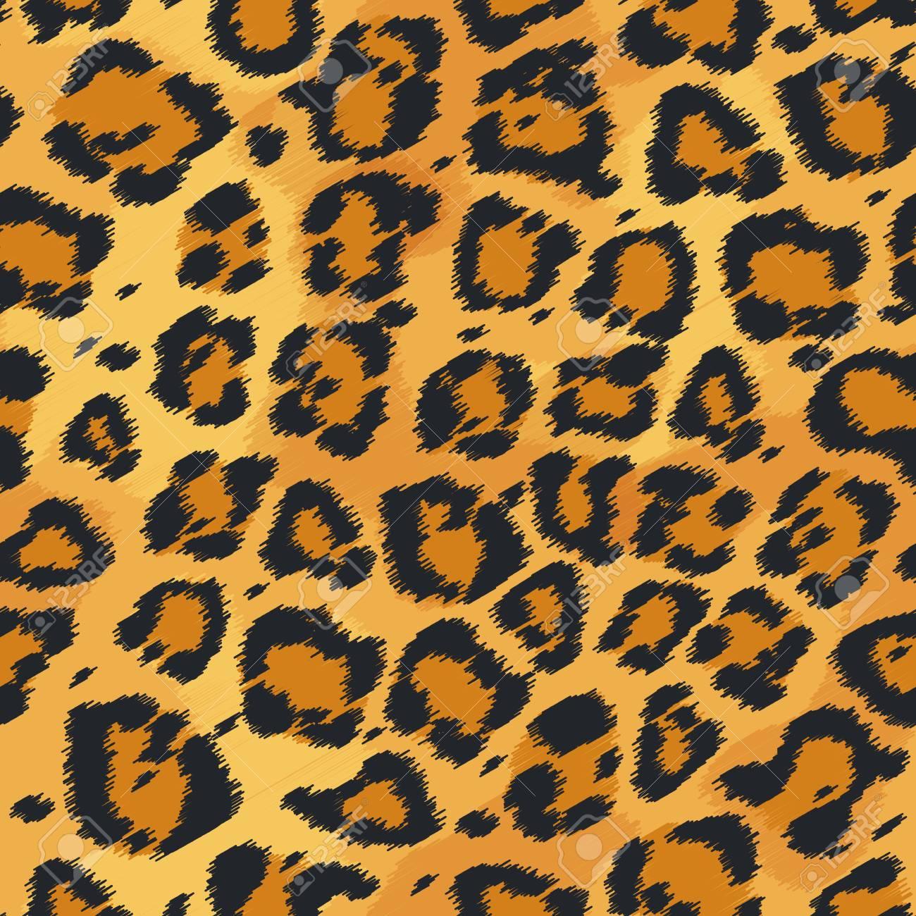 Seamless Leather Texture Leopard Fur Texture Leopard Pattern