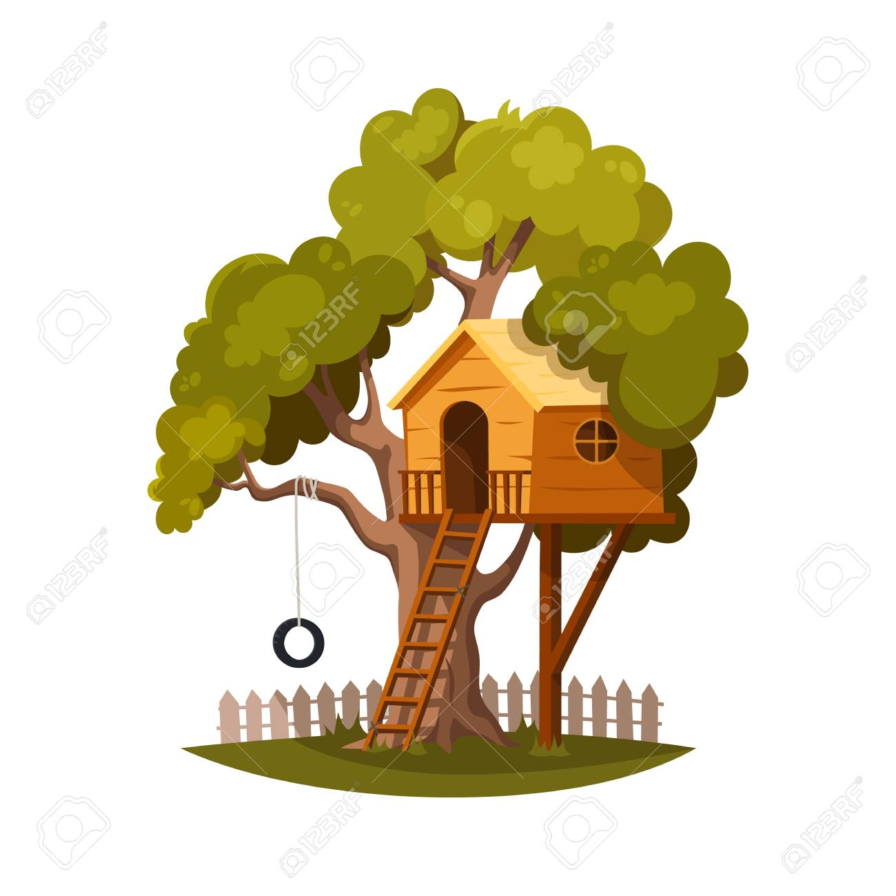 Tree House For Playing And Joyful Children House On Tree For Royalty Free Cliparts Vectors And Stock Illustration Image 103256760 Subscribe to treehouse direct for new clips, episodes. tree house for playing and joyful children house on tree for