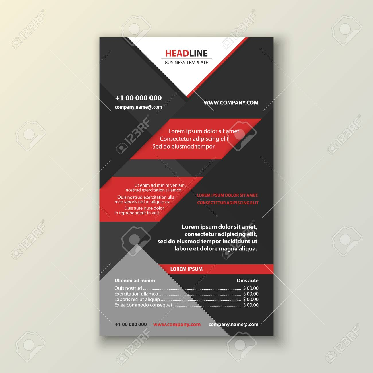 business brochure flyer design leaflets size a4 template front