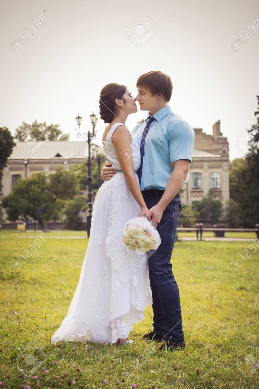 Beautiful Couple In Love. Wedding Day. Wedding