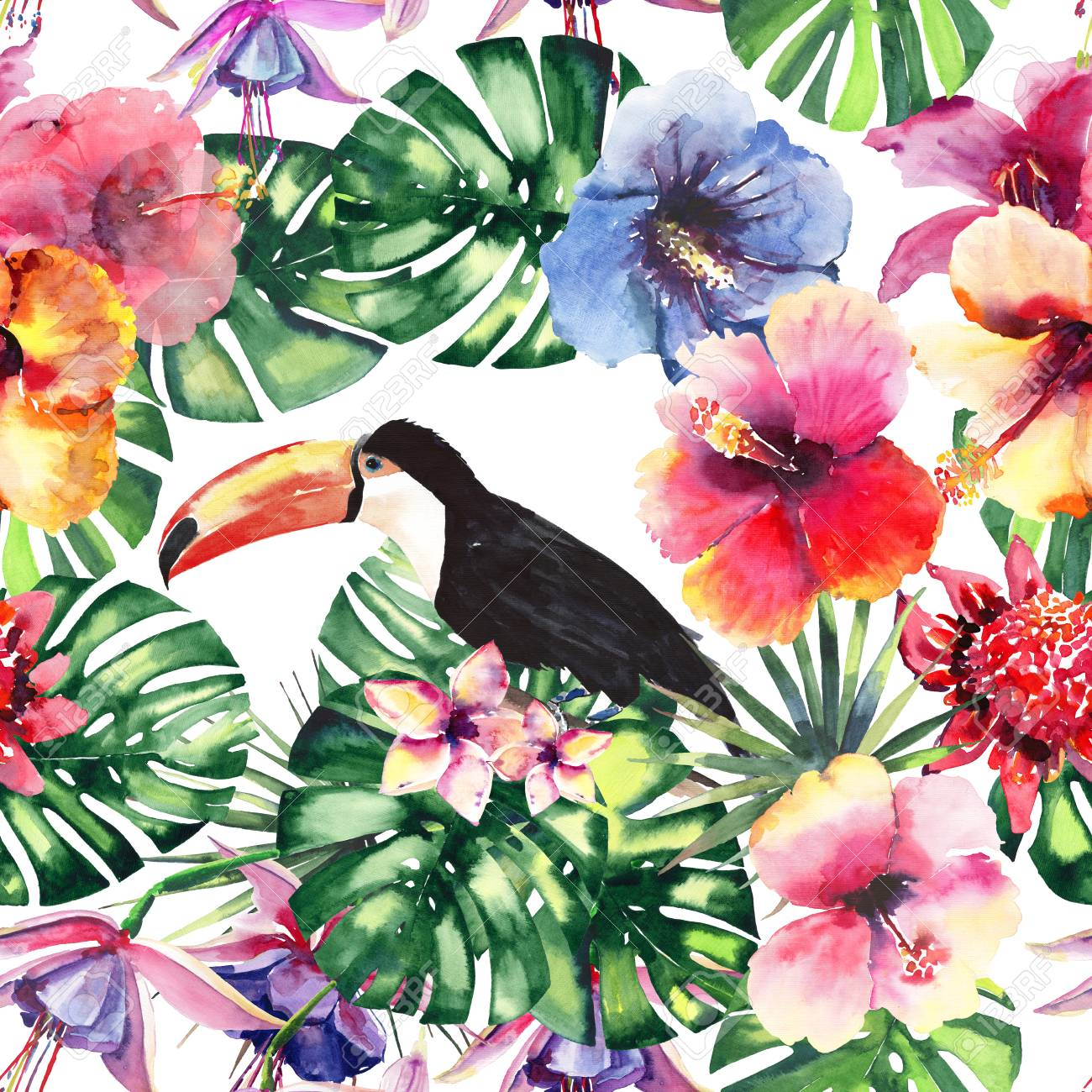 Beautiful Bright Lovely Colorful Tropical Hawaii Floral Herbal