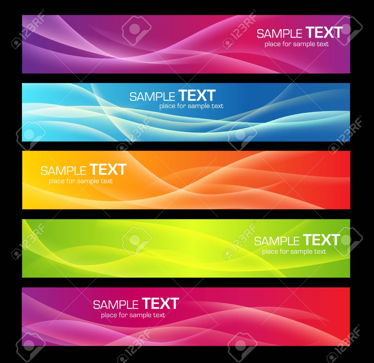 Five colorful banners for web or print - 36554160
