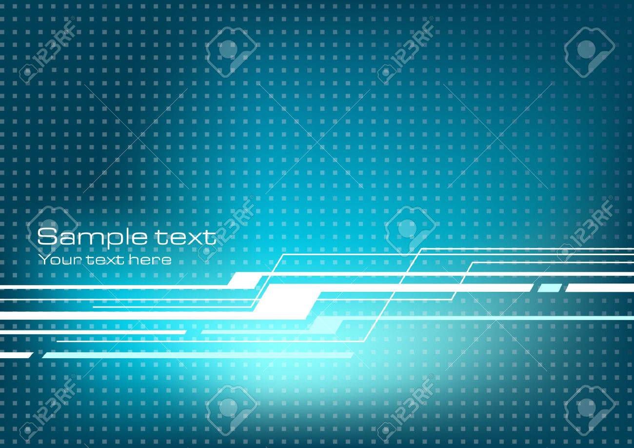 Blue abstract technology background - 36566153