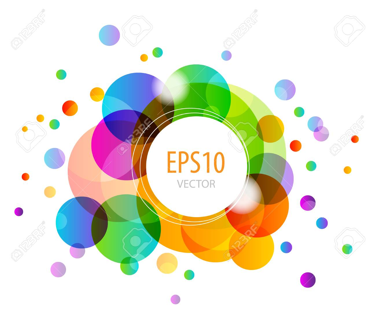 Abstract background with colorful circles - 36643050