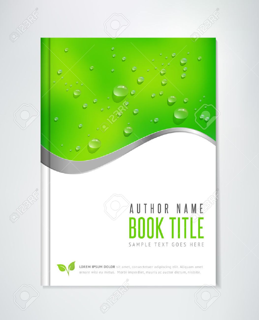 Brochure Design - vector template. Can be used for ecological themes, organic agriculture, healthy lifestyle topics. - 50372256