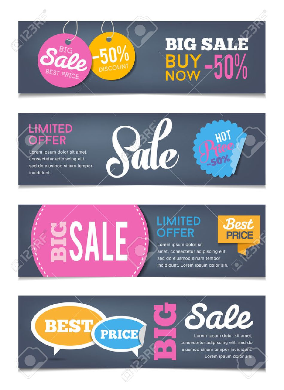 Sales Banners Design - Can Illustrate Sales Events, Shopping ...