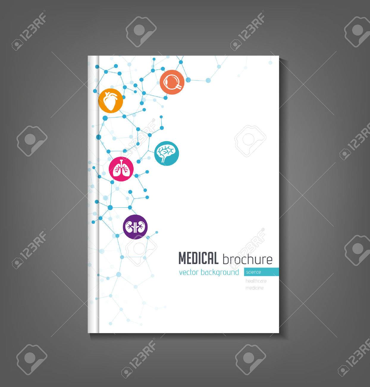 brochure template medical topics healthcare science technology stock vector 50453676
