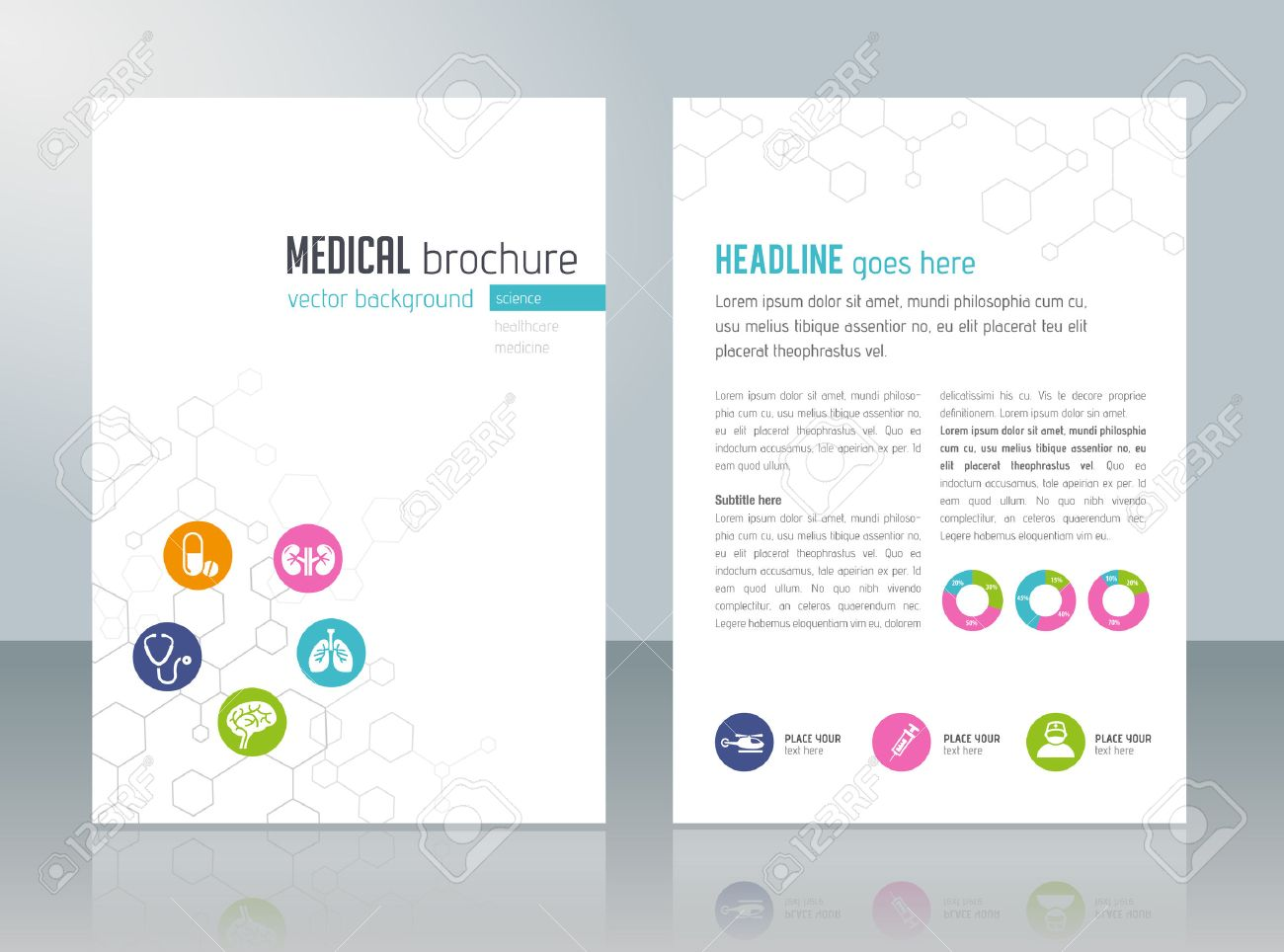 Brochure template - medical topics, healthcare, science, technology. - 50453712