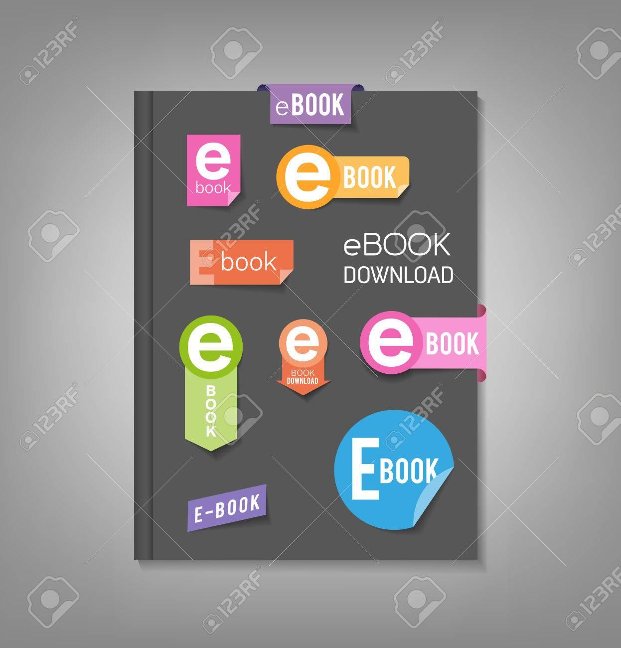 Broschüre Vorlage, Buchcover Mit E-Book-Download Aufkleber ...
