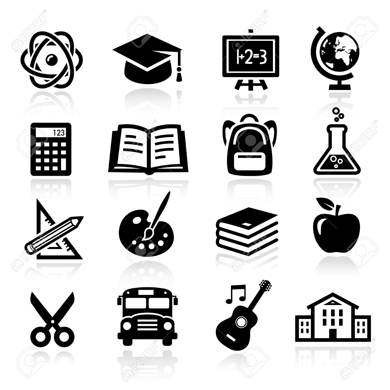 Collection of icons representing education, school and students - 50454821
