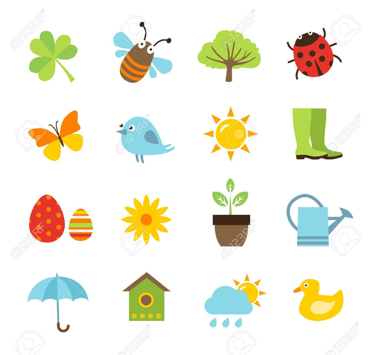 Collection of spring icons - 50454827