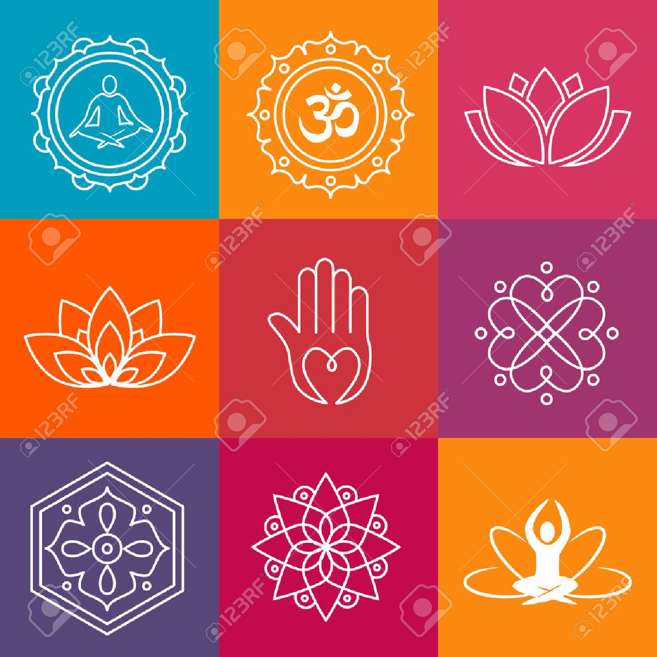 Collection Of Yoga Icons And Relaxation Symbols Royalty Free Cliparts Vectors And Stock Illustration Image 50454829