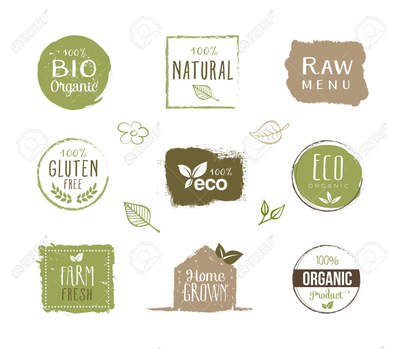 Collection of organic food labels stickers and design elements collection of organic food labels stickers and design elements can be used on product biocorpaavc Gallery