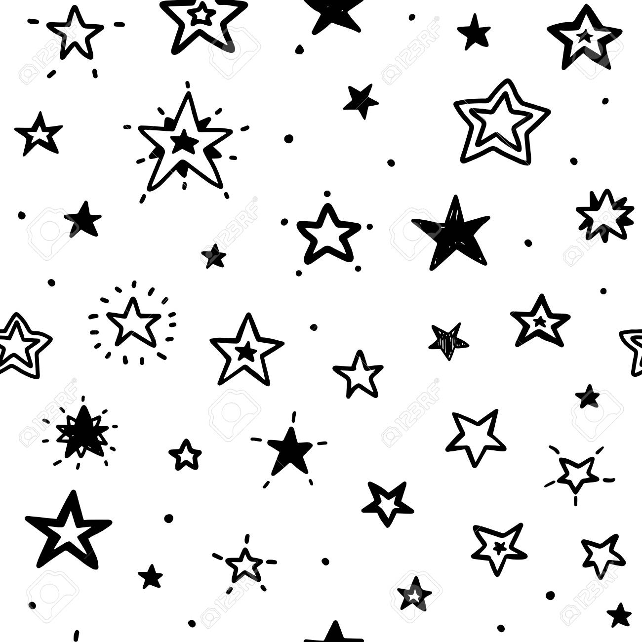 Doodle Star Seamless Pattern Hand Drawn Doodle Stars Can Be Royalty Free Cliparts Vectors And Stock Illustration Image 120174858 Doodle star is a new and creative drawing app for kids 3 and above. doodle star seamless pattern hand drawn doodle stars can be