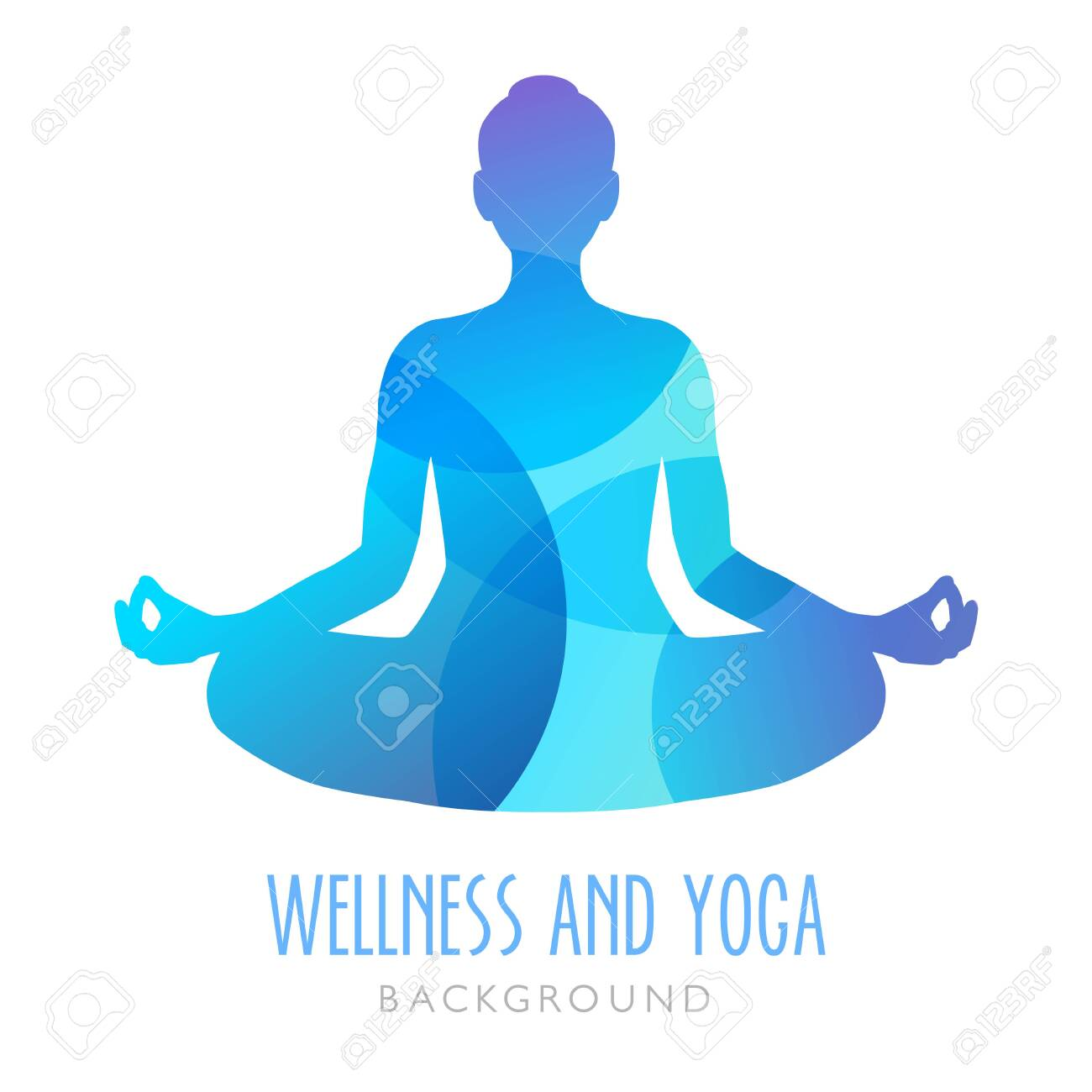 Yoga Symbol Meditation Person Can Be Used As An Ilustration Royalty Free Cliparts Vectors And Stock Illustration Image 124428193