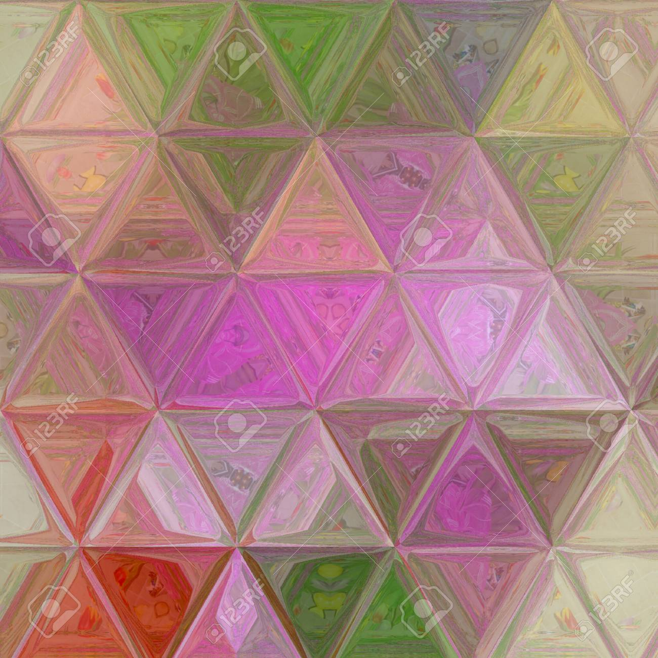 Stock Photo   Tender Triangle Pastel Texture In Violet, Beige, Green Colors  For Wallpaper, Textile, Baby Fabric