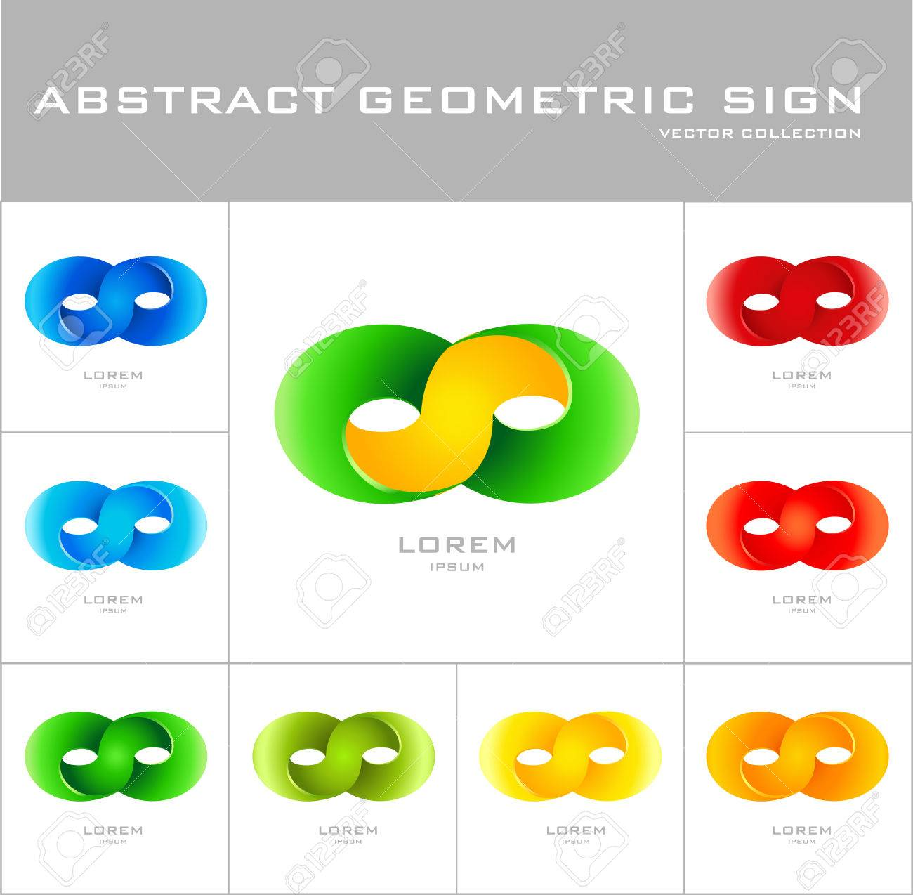 Infinity Sign Logo Design Template Set Of Corporate Icon Such