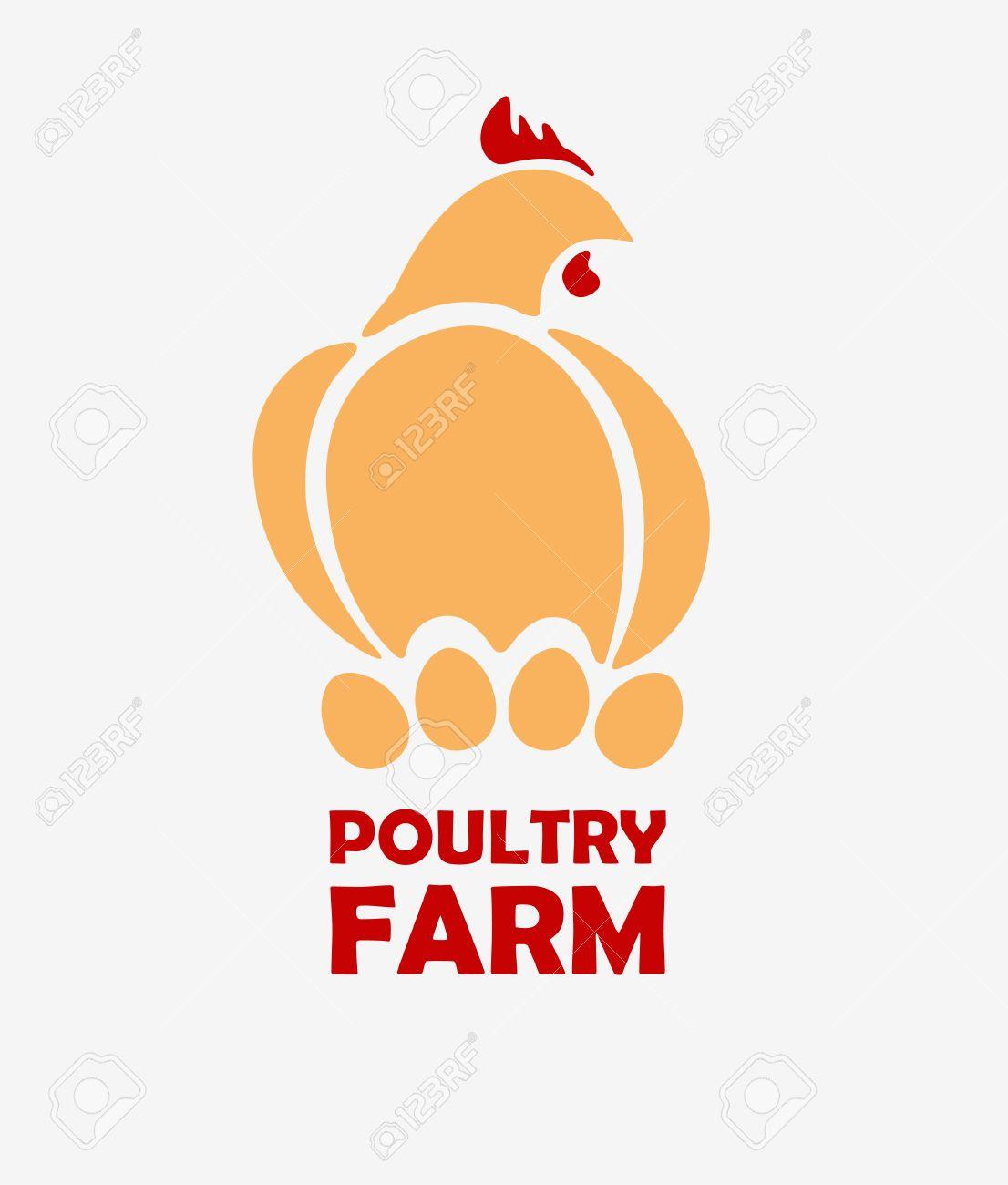 chicken logo design template stylizing hen eggs hatch icon such